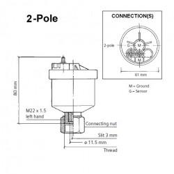 """VDO Generator tacho - speed sender - 7/8""""-18"""