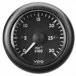 VDO ViewLine Tachometer 4.000 RPM Black 52mm