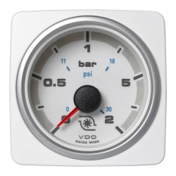 Veratron AcquaLink - 52mm White Turbo Pressure 2Bar - 12-24V