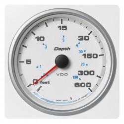 Veratron AcquaLink - 110mm White Depth gauge 600ft-200m - 12-24V