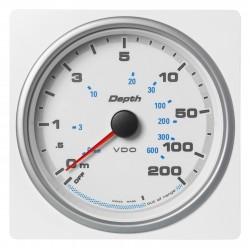 Veratron AcquaLink - 110mm White Depth gauge 200m-600ft - 12-24V