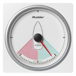 Veratron AcquaLink - 110mm White Rudder Angle Indicator - 12-24V