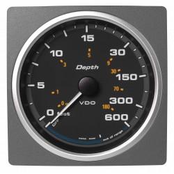 Veratron AcquaLink - 110mm Black Depth gauge 600ft-200m - 12-24V