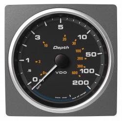 Veratron AcquaLink - 110mm Black Depth gauge 200m-600ft - 12-24V