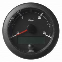 Veratron OceanLink II - 85mm Black Tachometer Master 3000 RPM - 12–24V DLRB