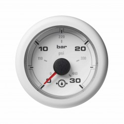 Veratron OceanLink II - 52mm White Gear Oil Pressure 30Bar-440PSI - 12-24V DLRW