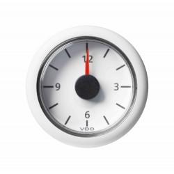 Veratron ViewLine - 52mm White Quartz Clock 24V - 12-24V DLRW