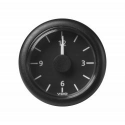 Veratron ViewLine - 52mm Black Quartz Clock 12V - 12-24V DLRB