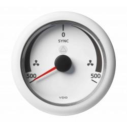 Veratron ViewLine - 85mm White Synchronizer Indicator - 12-24V DLRW