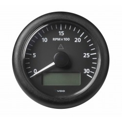 Veratron ViewLine - 85mm Black Tachometer 3000 RPM - Display - 12-24V DLRB