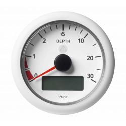 10X Veratron ViewLine - 85mm White Depth gauge 30m - 12-24V DL