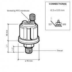VDO Pressure sender 0-25 Bar - M18