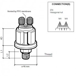 VDO Druckgeber 0-5 Bar - M18
