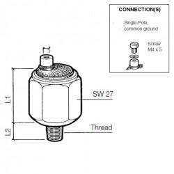 VDO Pressure switch 2.50 Bar - M10