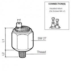 VDO Pressure switch 1.00 Bar - M10