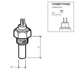 10 Pieces VDO Coolant temperature sender 120°C - 1/4-18 NPTF