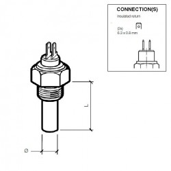 10 Pieces VDO Coolant temperature sender 120°C - 3/8-18 NPTF